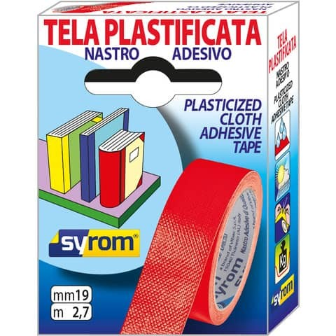 Nastro adesivo in tela Tes 702 Syrom - Tes 702 Special - 19 mm x 2.7 m - rosso - 7565